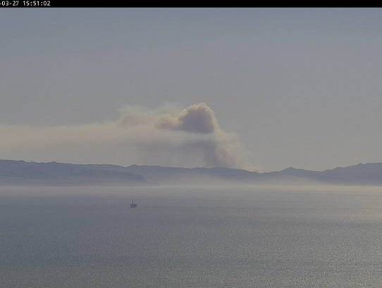 The smoke from the Santa Cruz Island fire was visible