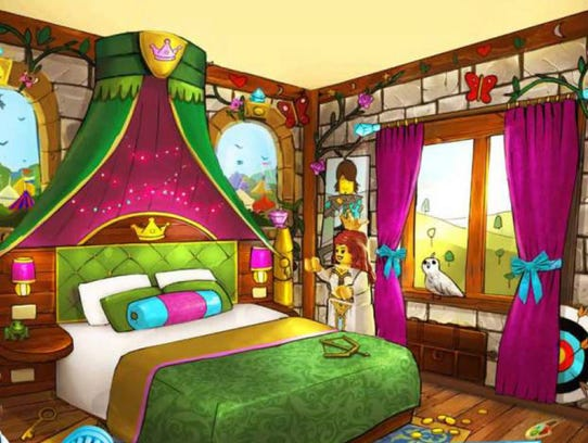 The sleeping quarters for adults inside the Princess