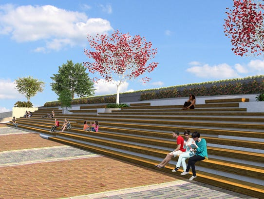A rendering of the Port Chester village waterfront