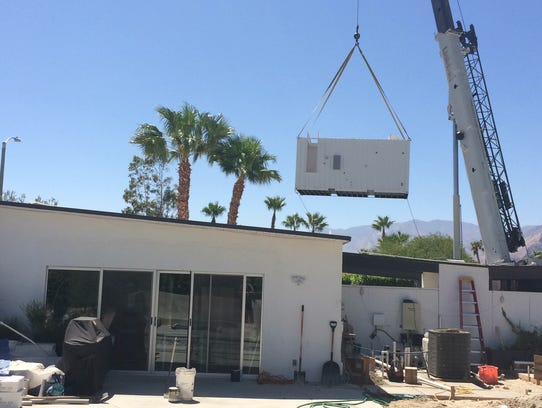 See A Cargo Container That Will Become A Chic Palm Springs