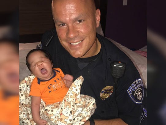 Cop Finds Pregnant Mom And Toddler Asleep On Sidewalk