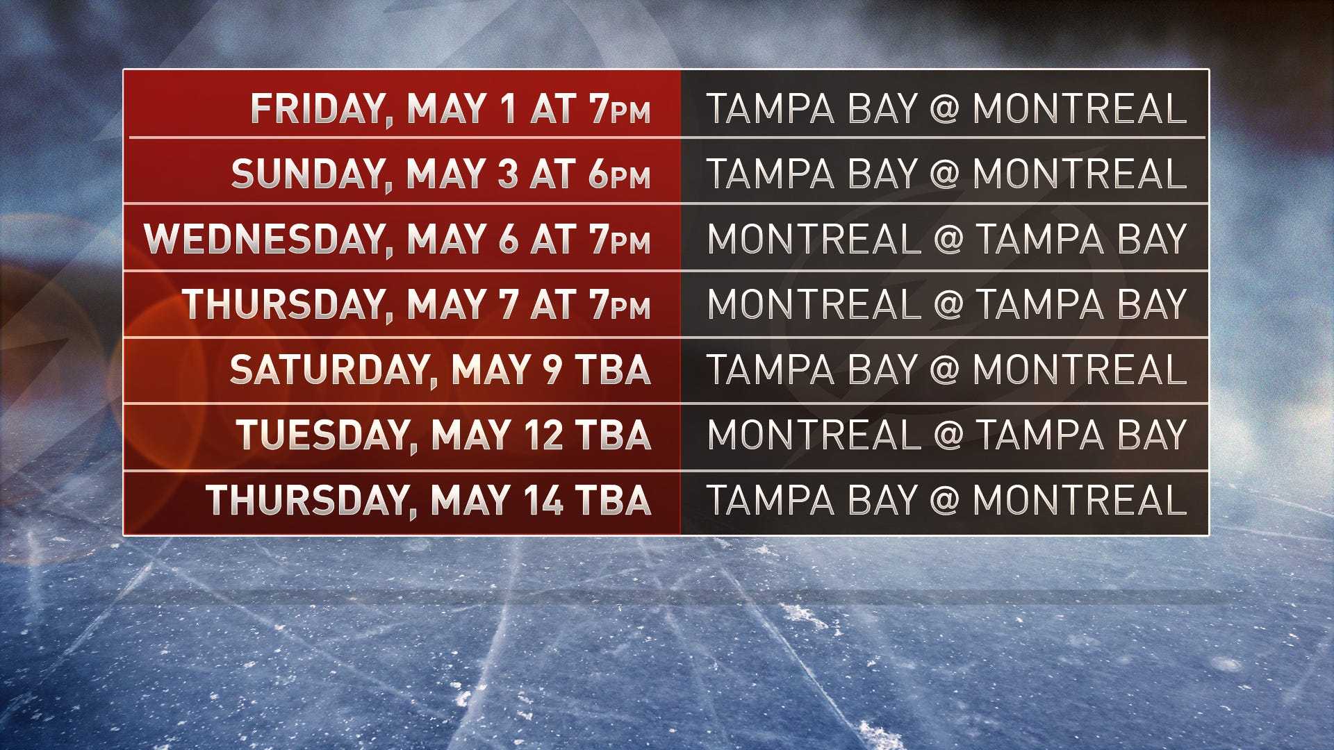 The Lightning Advance To Play The Canadiens.