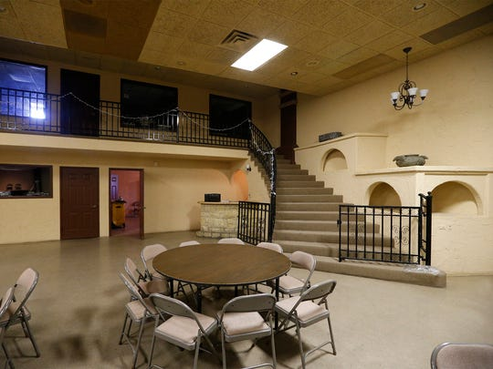 The inside of the Alamo Ballroom, which is the new home for Grace Christian Center. The church recently bought the building and moved from its old location at 4310 Alameda.