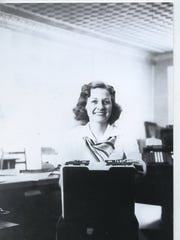 Lois Chapin Moore worked as a secretary for farm credit