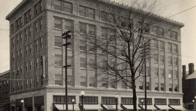 The JCPenney store was located at Walnut Street and Park Avenue West, currently the Barrington One Building. This photo is from about 1924-1925 from the collection of photographs at the Mansfield Memorial Museum.