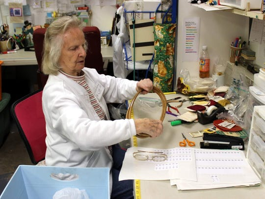 "Lee White-Alvut of Fairport is Craft Bits & Pieces' self-described ""pins and needles specialist."" Lee has been volunteering at the shop since it opened 14 years ago."