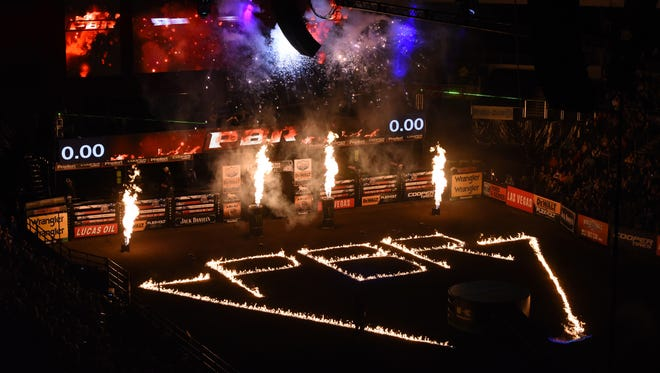 Professional Bull Riders: Built Ford Tough series at the Denny Sanford Premier Center on Friday, March 31, 2017.