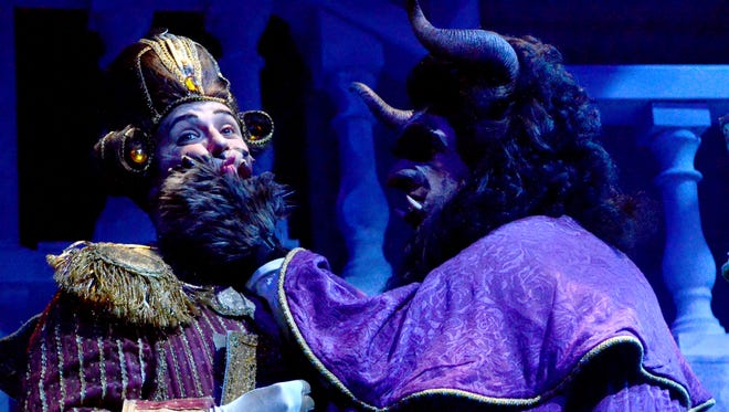 "Arizona Broadway Theatre's production of ""Beauty and the Best"" features Tony Edgerton (right) and Zachary Spiegel."