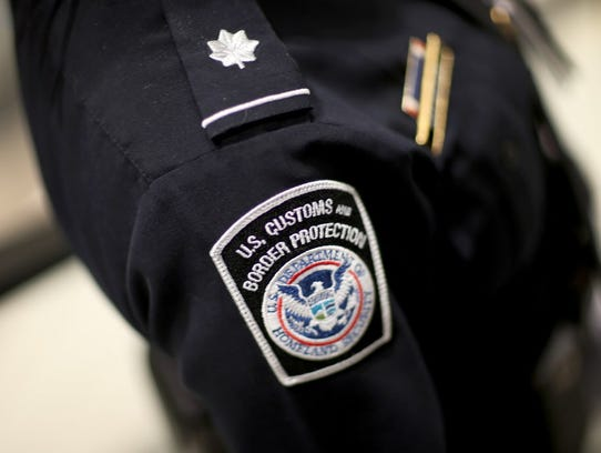A U.S. Customs and Border Protection officer's patch