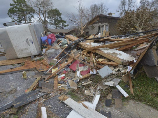Homes are completely destroyed in the Northpointe area