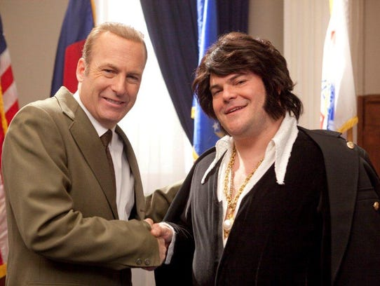 Bob Odenkirk is Richard Nixon and Jack Black is Elvis