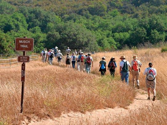 Backbone Trail from Trippet Ranch, Topanga State Park