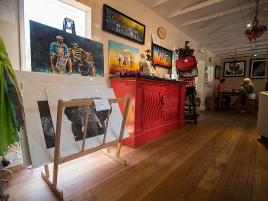 A view inside Kunjani Craft Coffee & Gallery in Naples.
