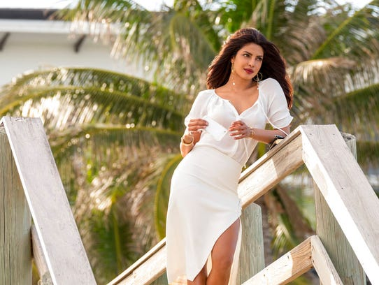 "Priyanka Chopra as Victoria Leeds in ""Baywatch."" The"