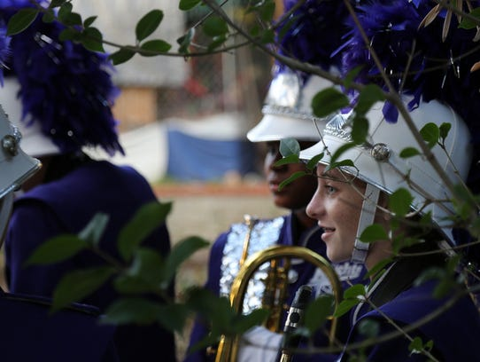The Shadow Hills High School marching band filmed an