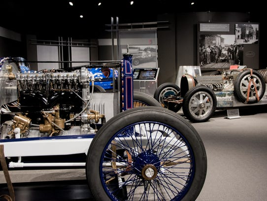 The 1913 Peugeot and the 1935 Bugatti Type 35-B at