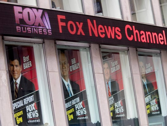 Posters featuring Fox News talent including one of