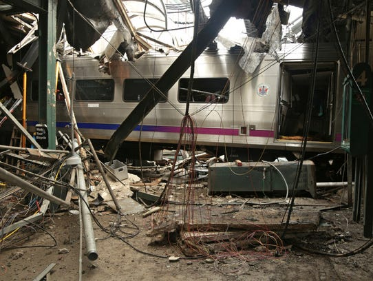 This Oct. 1, 2016 photo shows damage from a Sept. 29