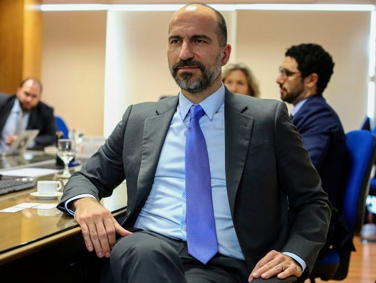 UBER CEO Dara Khosrowshahi on October 31, 2017, for