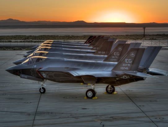 F-35s on an airbase
