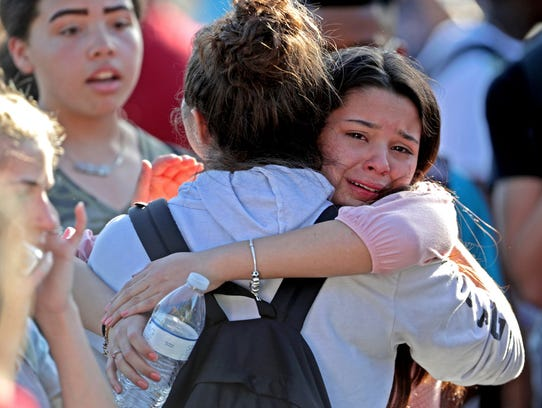 After being released from a lockdown, students embrace