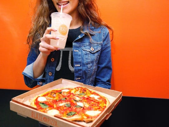 Blaze is one of several pizza places that put the new nutrition rule in place before it was required.