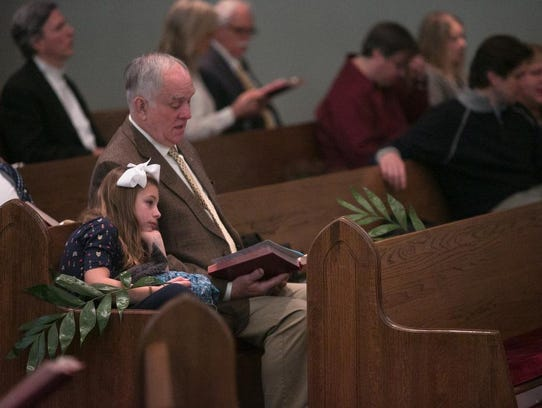 Ella Peters and her Grandpa Larry Peters attended the