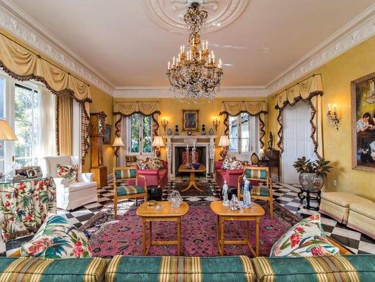 Hacienda del Sol's living room has bright colors and