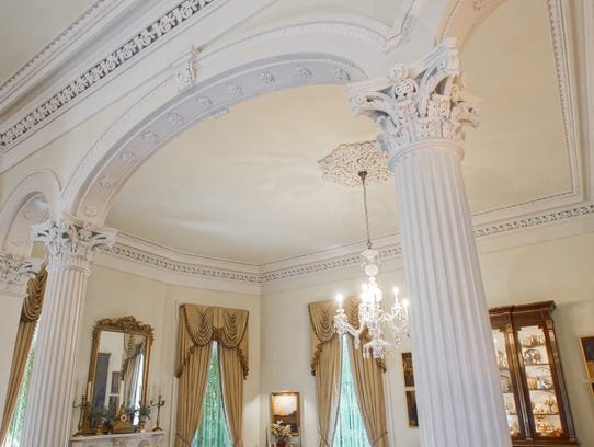 The ceilings soar to 16 feet in the grand entrance.
