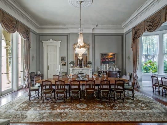 The large formal dining room can host any function.