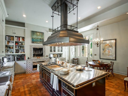 The kitchen has been updated with modern conveniences.