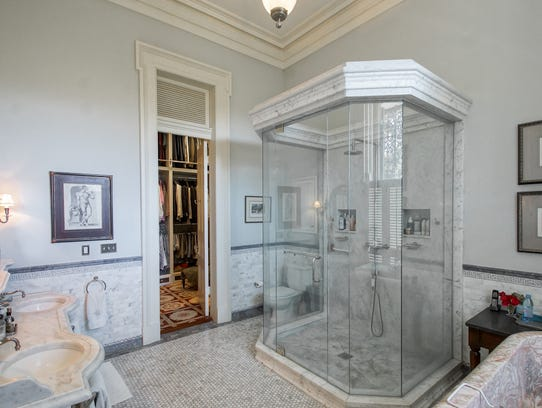 The master bathroom has also been updated for comfort