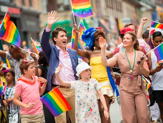 Canadian Prime Minister Justin Trudeau and his family