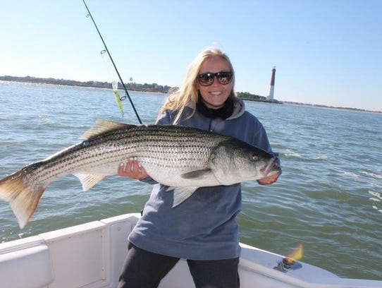 Striped bass run has some legs left for Island beach state park fishing report