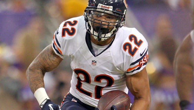 Bears running back Matt Forte accounted for 1933 total yards and 12 touchdowns in 2013.