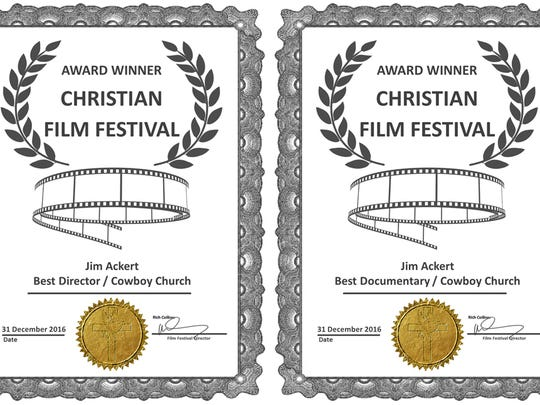 """Jim Ackert has won the Virginia-based Christian Film Festival's """"Best Director"""" and """"Best Documentary"""" awards for the production of his documentary film, """"Cowboy Church."""""""