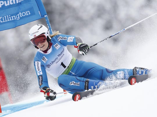 Nina Loeseth of Norway competes during the Audi FIS