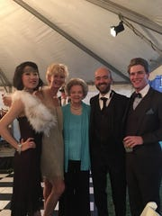 Enjoying the Fitzgerald Gala were, from left, Ying