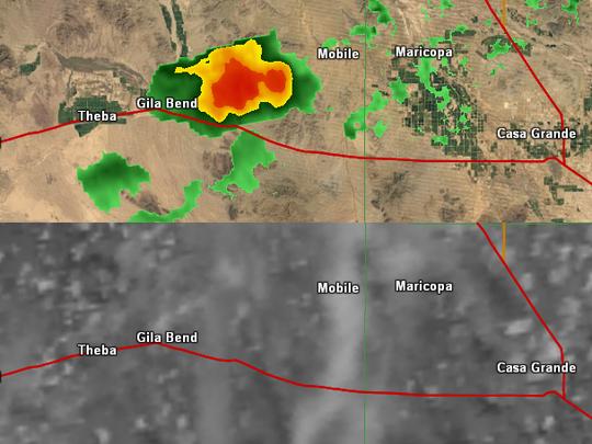 Fake storms appearing on radar