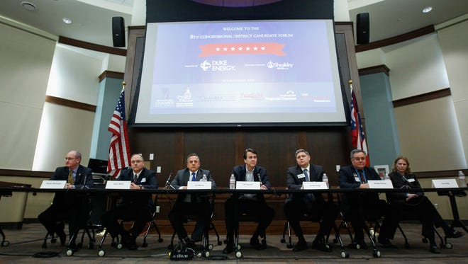 Congressional candidates for Ohio's 8th District attended an Enquirer forum Monday afternoon at the Miami University Voice of America Learning Center.