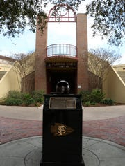 FSU unveiled the new Scott Speicher memorial in front