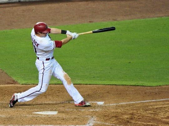 Jake Lamb hopes he can be more like A.J. Pollock (pictured) in that if he is slightly out in front of an off-speed pitch, he'll still be in position to hit the ball hard.