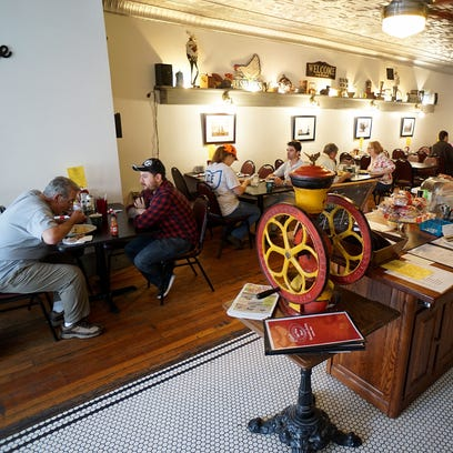 Customers at Chris' Big Plate in Galion enjoy breakfast