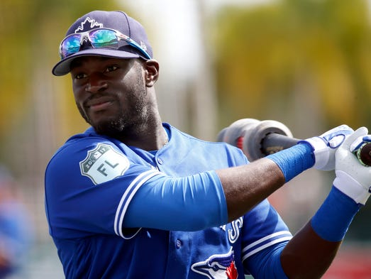 Toronto Blue Jays right fielder Anthony Alford (30)