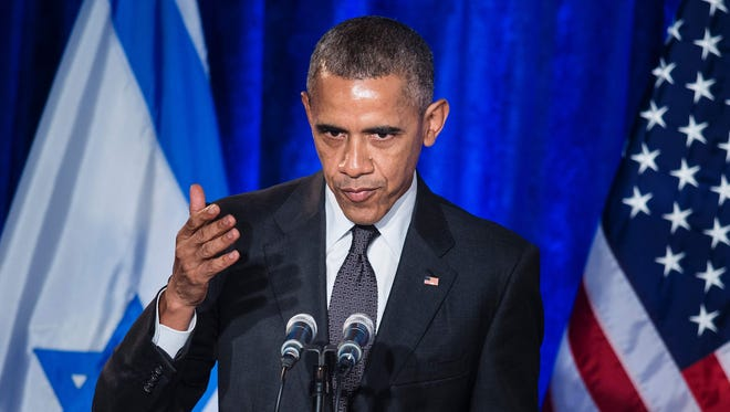 President Obama addresses the Righteous Among the Nations Award Ceremony at the Israeli Embassy in Washington Wednesday.
