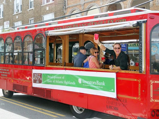 Trolleys will take tourgoers from stop to stop during Taste of Atlantic Highlands.