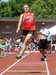Loudonville's Emily Weber set a district meet record