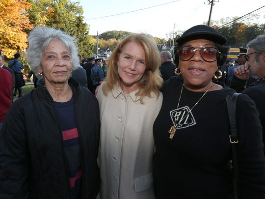 A large crowd turned out for the 34th annual Brinks Memorial Service in Nyack Oct. 20, 2015. The event remembered South Nyack Police Sgt. Edward O'Grady and Officer Waverly Brown and Brinks guard Peter Paige, who were killed in a bank robbery in 1981.