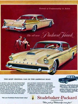 The 1958 Packard Hawk was a knock-off of the Studebaker Hawk sans some front and rear tweaking. Still, both the Studebaker Hawk and its sibling were well ahead of other manufacturers when it came to sporty styling.