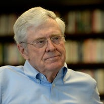 Charles Koch speaks with USA TODAY in April.